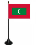 Maldives Desk / Table Flag with plastic stand and base.
